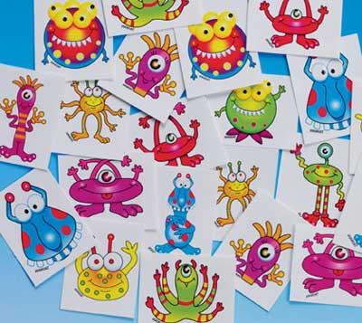 Monster Toys: Friendly Monster Temp Tattoos