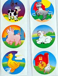 Farm Animal Stickers (100/PKG) Toy Connection